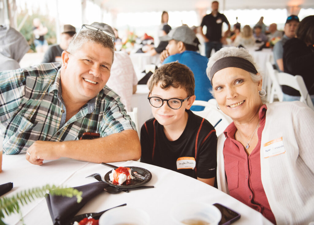 Family enjoys day together at Cerrowire's 100-Year Anniversary Celebration in Indiana.